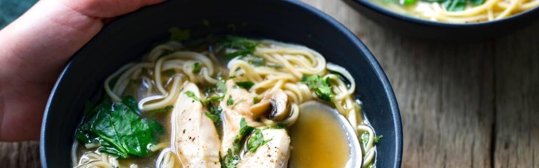 soupe de poulet nouilles aviso