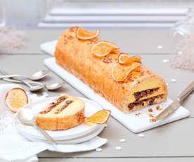 Bûche mandarine-sarrasin