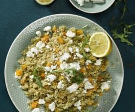 Quinoa s citrónem a feta sýrem