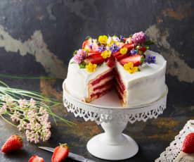 Wedding cake aux fraises