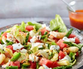Asperge-watermeloen salade
