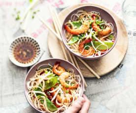 Chow mein aux crevettes