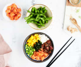 Poke bowl hawaiano