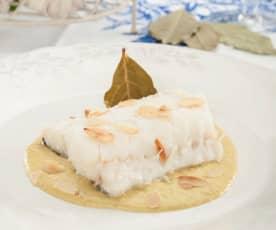 Bacalao con salsa de almendras