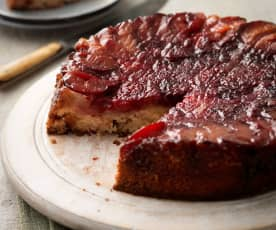 Plum and Blackberry Upside-Down Cake