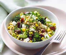 Lauwarmer Sonnenweizen-Salat