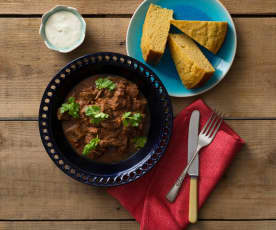 Southern-style chilli with cornbread