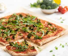 Pizza na mąkach pełnoziarnistych