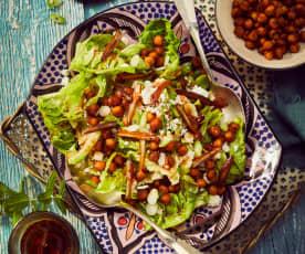 Kichererbsen-Feta-Salat mit Datteldressing