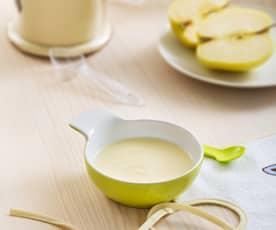 Papilla de cereales sin gluten y manzana