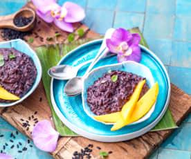 Pudding au riz noir