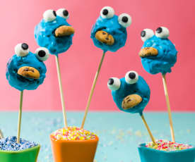 Cake pops monstruo de las galletas