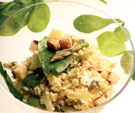 Ensalada templada de arroz integral