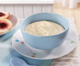 Weizen-Milchbrei mit Nektarinen