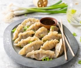 Gyozas vegetarianas de shiitake