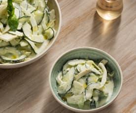 Ensalada turca de pepino, hinojo y yogur - Turquía