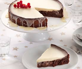 Bizcocho almendrado con cobertura de chocolate blanco (sin gluten)