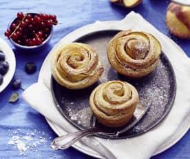 Pfirsich-Rosen-Muffins