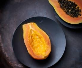 Papaya al vapor