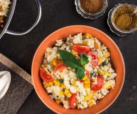Couscous de chou-fleur et de légumes sans cuisson