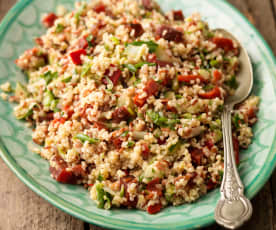 Mixed Grain Pilaf with Beetroot