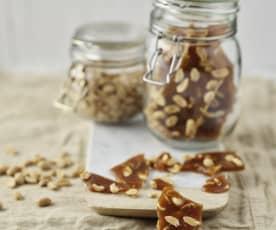 Nougatine aux cacahuètes