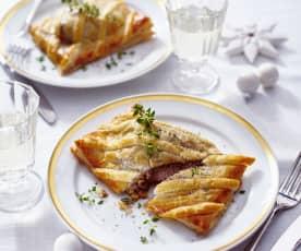 Filet Wellington mit Maronen