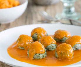Lamb meatballs in spicy tomato sauce (lamb kofta)