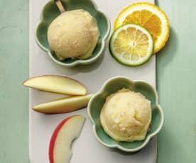 Sorbete de fruta congelada