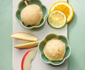 Frozen fruit sorbet