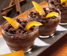 Mousse di cioccolato profumata all'arancia e cannella
