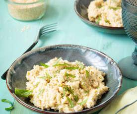 Risotto de quinoa à l'aubergine