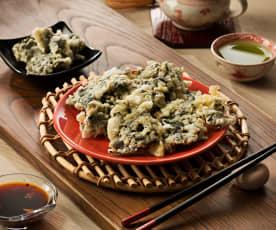 Algas wakame en tempura - Japón