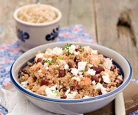 Sałatka z kaszy quinoa