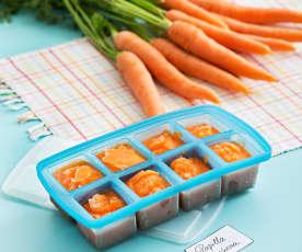 Puré de zanahoria en cubitos
