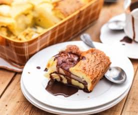Gratin de poire au chocolat et aux amandes