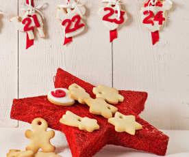Calendario de Adviento de galletas