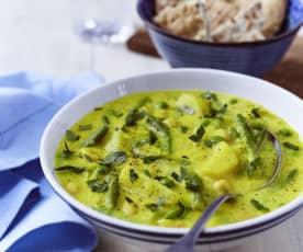 Bohnen-Kartoffel-Curry