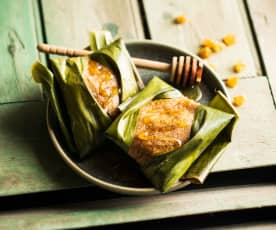 Quimbolito (Gâteau vapeur au maïs)