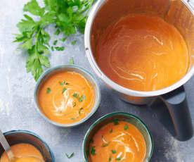 Velouté de tomates à la crème