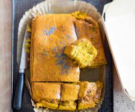 Cake au potimarron, beaufort et pavot