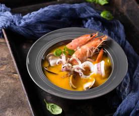 豆漿南瓜海鮮湯
