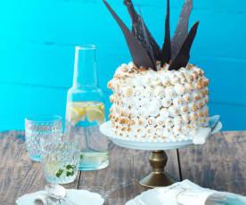 Gâteau à l'ananas meringué