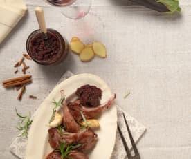 Melanzani-Rotwein-Relish