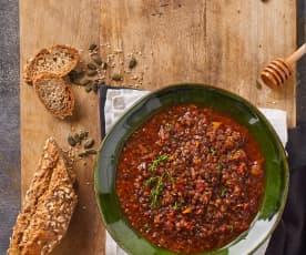 Zuppa di lenticchie al profumo di timo