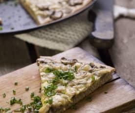 Champignon-Pizza mit Vollkornteig