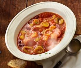 Serbische Bohnensuppe mit Cabanossi