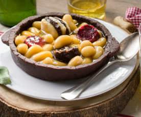 Fabada asturiana de mazapán