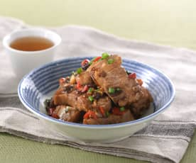 Pork ribs with black bean sauce