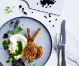 Crumbed cutlets with cauliflower purée (Post-natal)